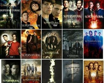 Supernatural 12x21inch Jared Padalecki Jensen Ackles Movie Silk Poster