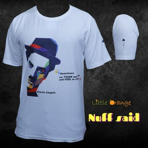 The Little Tramp Gift T Shirt M641 Charlie Chaplin You/'ll Never Find a Rainbow