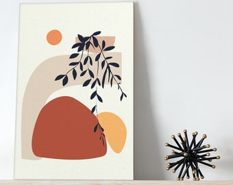 Abstract paint by number Leaves paint by numbers Sun paint by number kit color by number Bedroom Living Room Decoration Canvas RP0288
