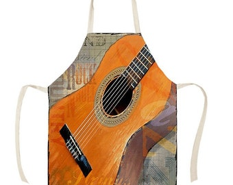 Music Band Apron Funny Novelty Kitchen Cooking Real Women Rock