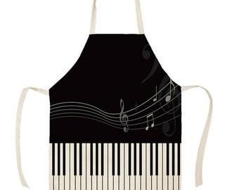 Musical  apron Unisex apron Saxophone apron Hostess apron Instruments apron
