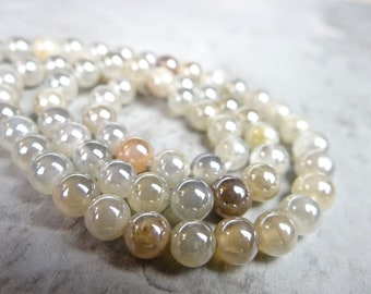 Natural Mystic Pink Moonstone Faceted Rondelle Beads 5.5mm 7mm 16inches