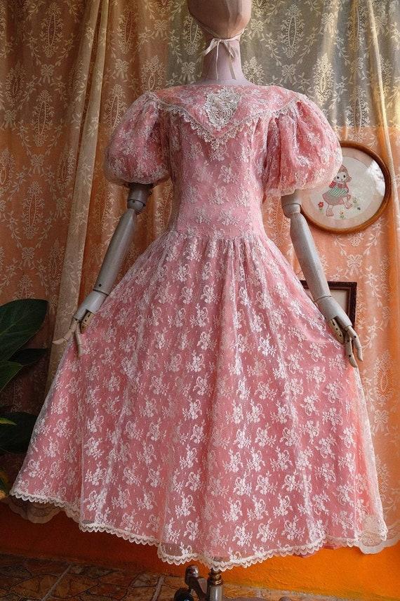 GUNNE SAX dress Vintage Lace vintage 1970s 1980s … - image 5