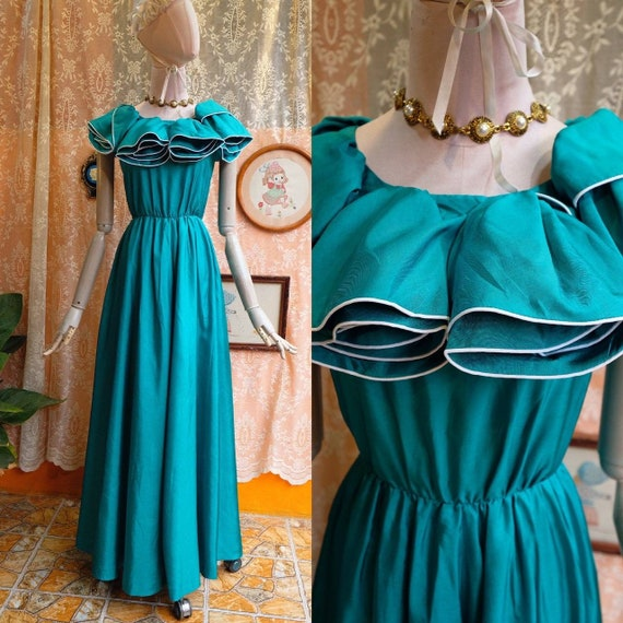 Maxi Dress Vintage Princess Dress - image 1