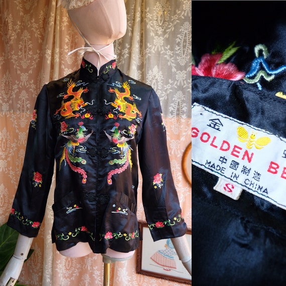 Vintage Embroidery Chinese Silk Shirt | Vintage 60