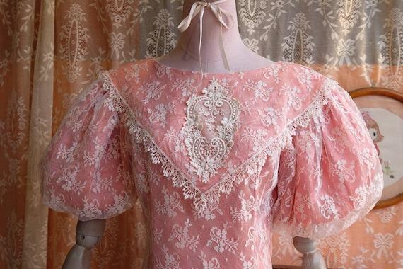 GUNNE SAX dress Vintage Lace vintage 1970s 1980s … - image 6