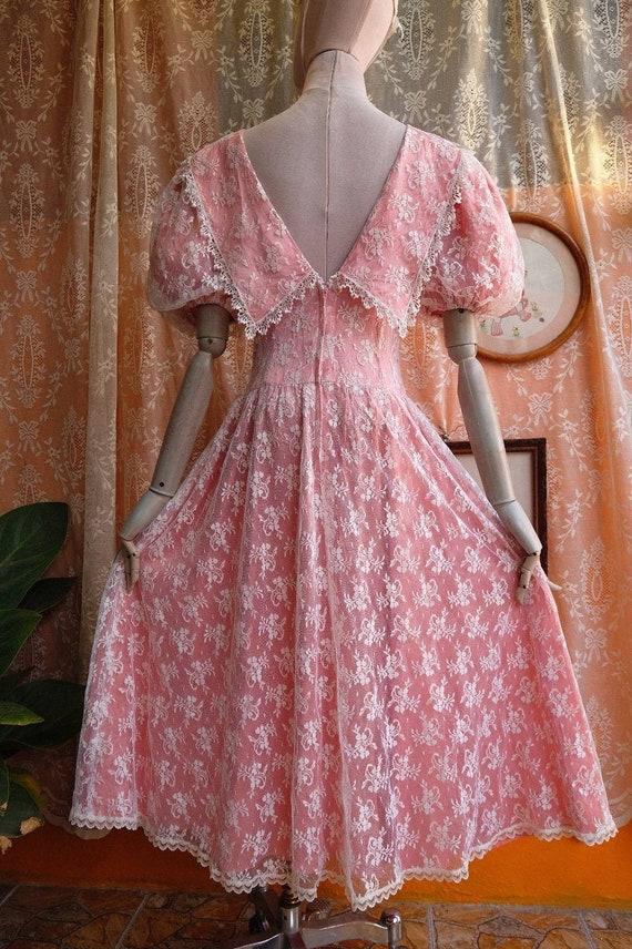 GUNNE SAX dress Vintage Lace vintage 1970s 1980s … - image 3