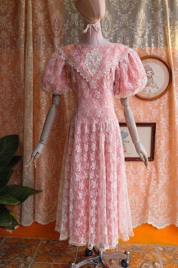GUNNE SAX dress Vintage Lace vintage 1970s 1980s … - image 2