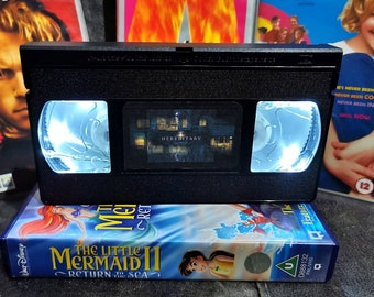 Upcycled Retro VHS Hereditary Night Light Table Lamp. Horror Halloween Scary Movies. Multiple Designs Available. Gift. Wedding Decoration