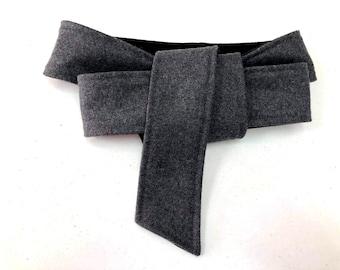 Personalized Custom Tie Belt for Jacket or Coat Woman Long Belt XS-XXXXL Long Wool Belt Custom Wool Belt for Your Coat