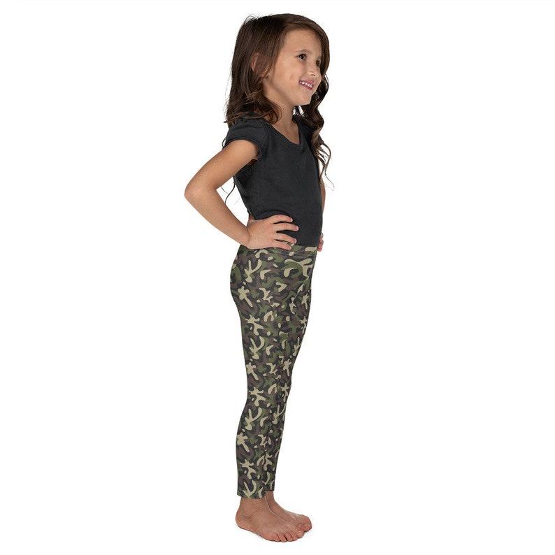 Children/'s Leggings Printed Kid/'s Green Camouflage Leggings Green Camo Toddlers Leggings Children/'s Green Pants Cut /& Handmade 2T-7