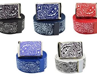 Bandana Print Belts