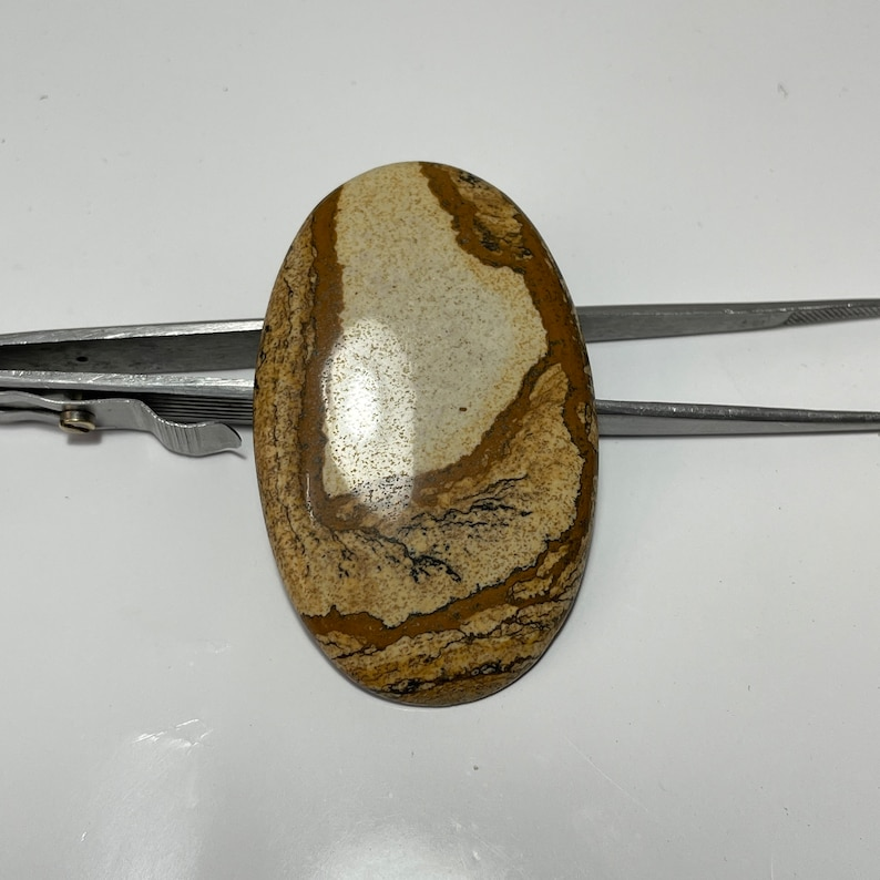 Mother/'s Day Gift  Sale 83 Cts Picture jasper Cabochon