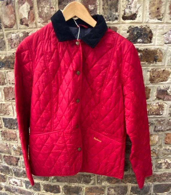 Barbour Summer Liddesdale Quilt Red Jacket Size 14