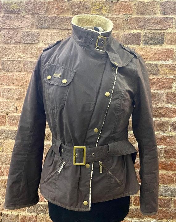 Vintage Barbour International brown aviator jacket