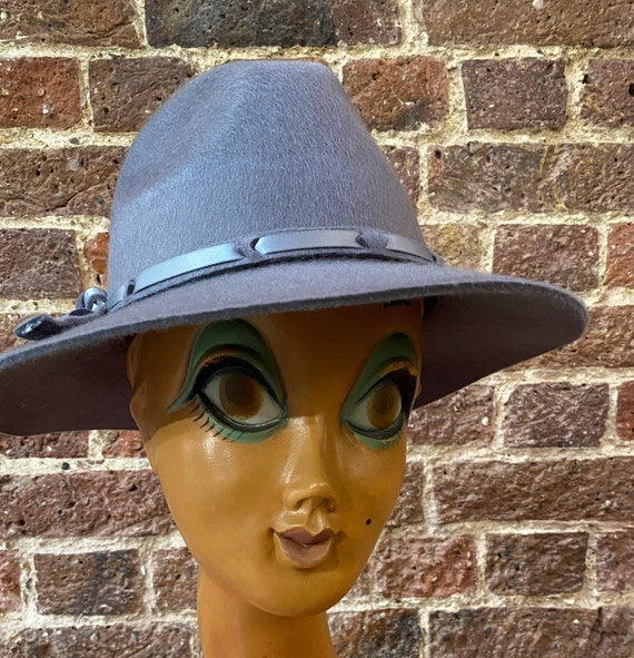 1970s style new satin weave Fedora hat by Suzanne… - image 2