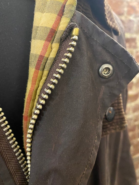 Vintage Burberry Men's Wax Jacket, Large - image 9