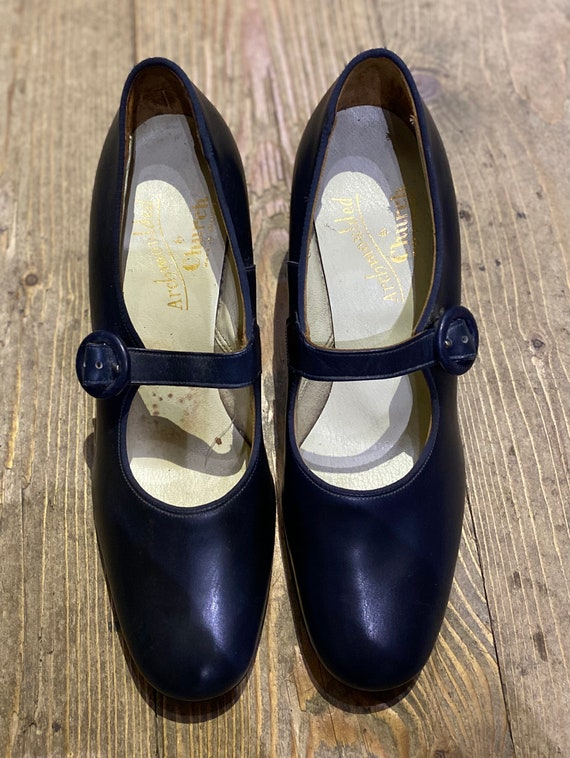 Vintage Blue Mary Janes shoes by Church
