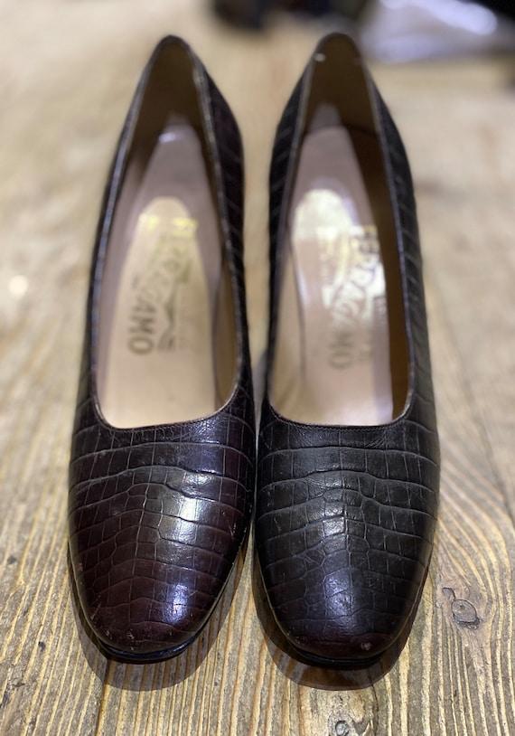 Vintage 1970s style Salvatore Ferragamo shoes