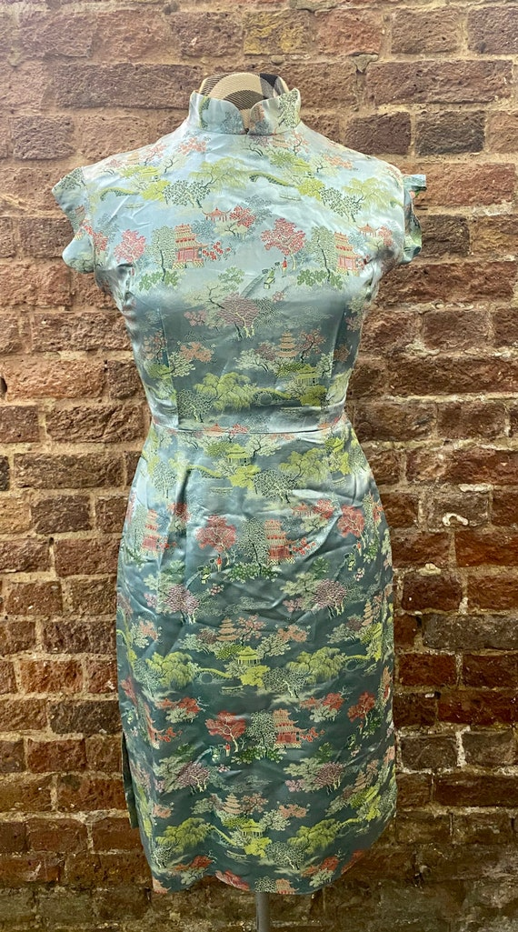 Vintage Oriental Cocktail Dress - image 1