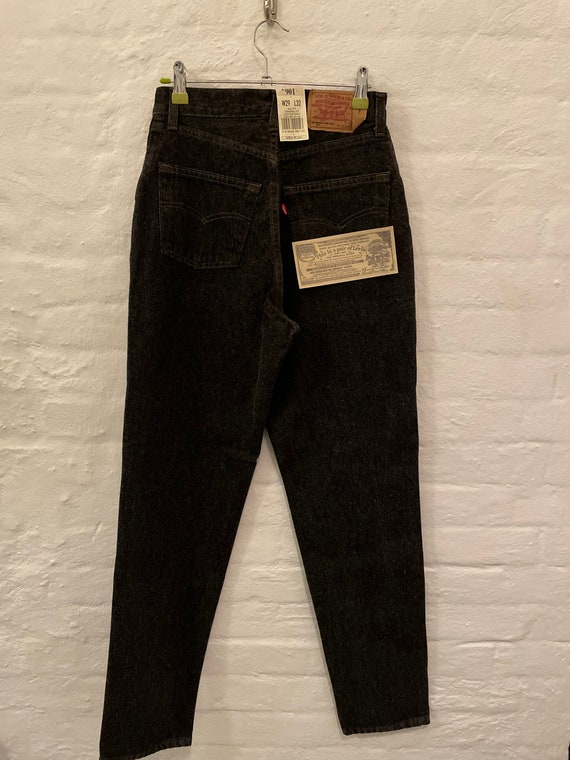 """Levis 901 High Waist """"Mom"""" Button Fly Jeans"""