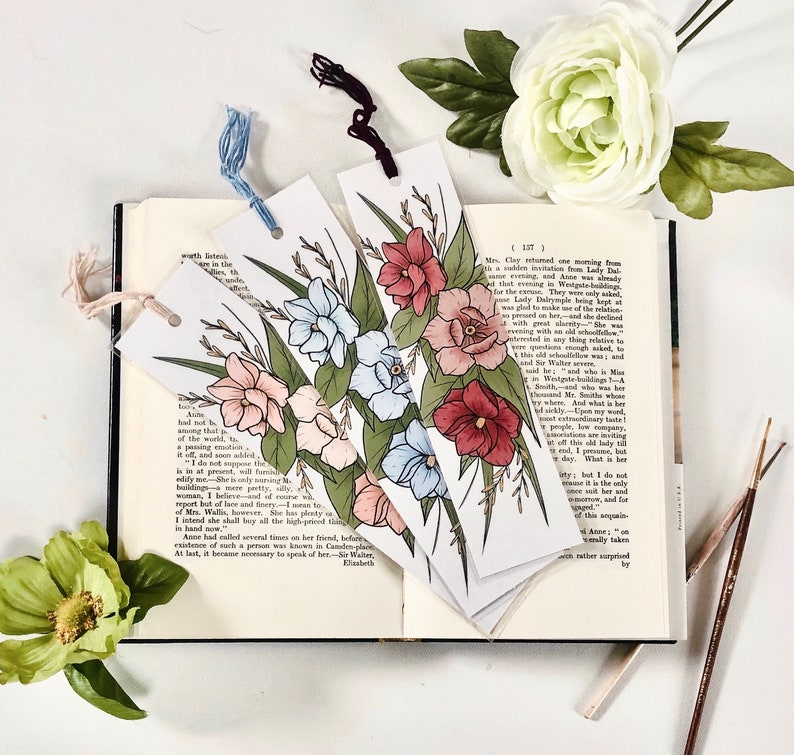 Hand Crafted Bookmarks Bookmark Reading Gift for book image 0
