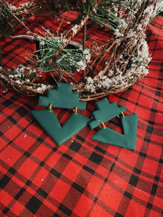 Emerald Winter Pine Studs