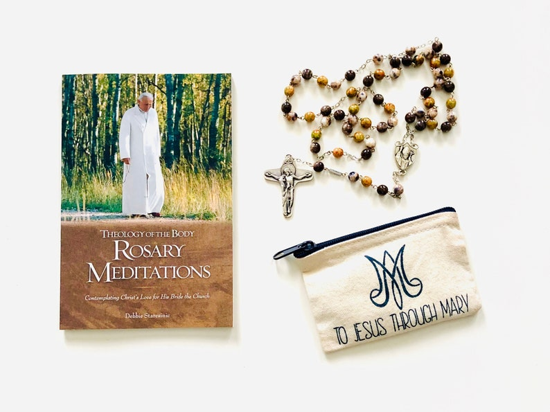 Rosary Gift Set  Meditations Rosary & Pouch image 0