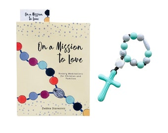 Baby's First Rosary Set   Newborn Gift   Baptism Gift   Shower Gift   Catholic Baby Gift   Silicone Baby Rosary   Decade Rosary