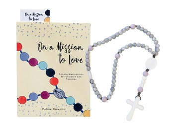Baby's First Rosary Set   Chewable Rosary   Catholic Baby Gift   Baptism Gift   Baby Shower Gift   Silicone Baby Rosary