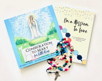 Consecration to Mary for Little Ones   Book Set with Rosary   First Communion   Confirmation   Catholic Gift
