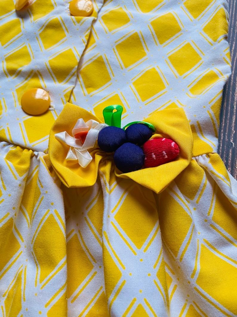 3T Vintage Yellow Mod Fruit Dress