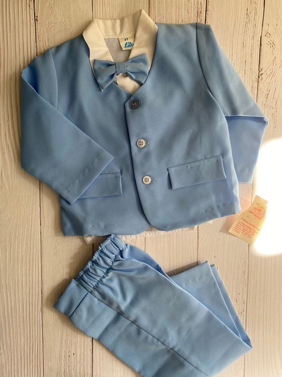Lito Blue Toddler Suit Boys NWT (2T)