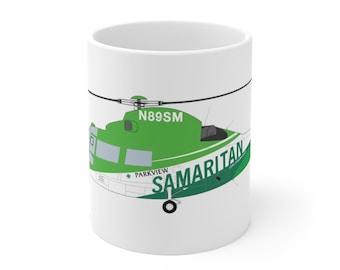 Dauphin helicopter mug