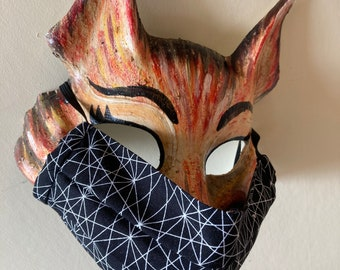 Handmade Washable Face Mask in 'Black & White' 100% Cotton Fabric.