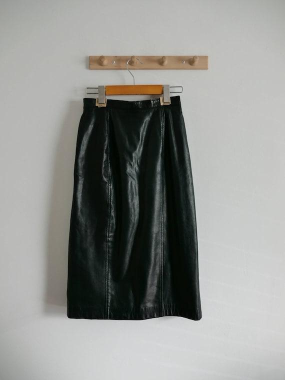 Vintage Leather High-Waisted Skirt