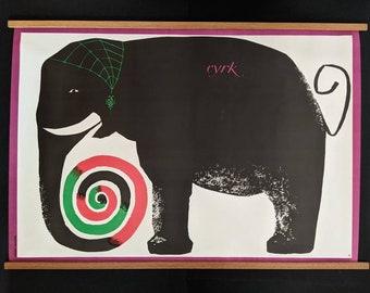 Cyrk Elephant, Polish poster