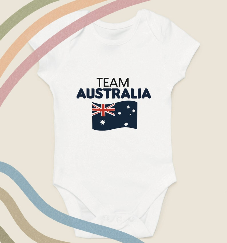 Baby Onesie Cricket Baby Clothes Baby Bodysuit Father\u2019s Day Gift Birthday Gift for Baby Team Australia Baby Grow Cute Baby Gift