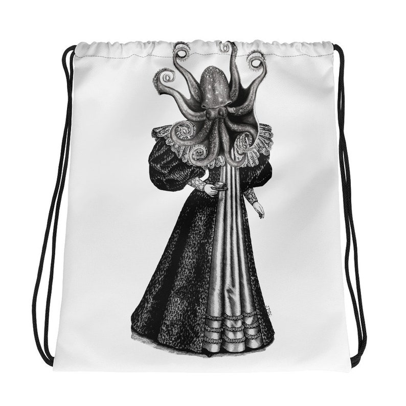 Drawstring bag Lady Of The Sea By Jonathon Prestidge