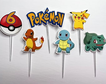 Personalized Pokemon Cupcake Toppers