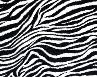 Zebra Animal Print Quilt Cotton Fabric Sold by the 1/4 yard-quantity of 4 = 1 Continuous yard