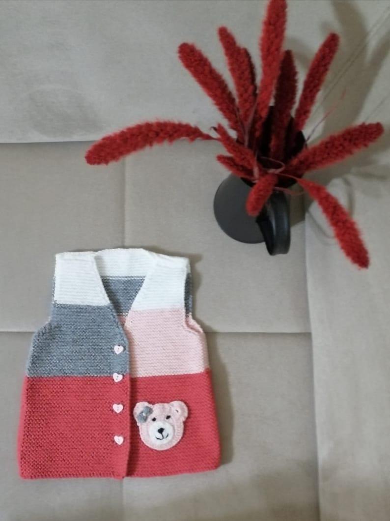 Knitted Vest Knitting Pattern Crochet vest for girls, Children/'s Vest Girls Crochet Vest Kids Knitted Vest,Kids Sleeveless Cardigan