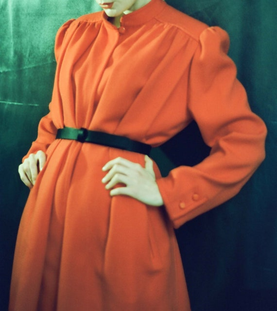 VALENTINO Vintage Gorgeous Red Wool Coat - Cape St