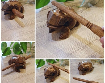 Sound Frog, wooden musical instrument