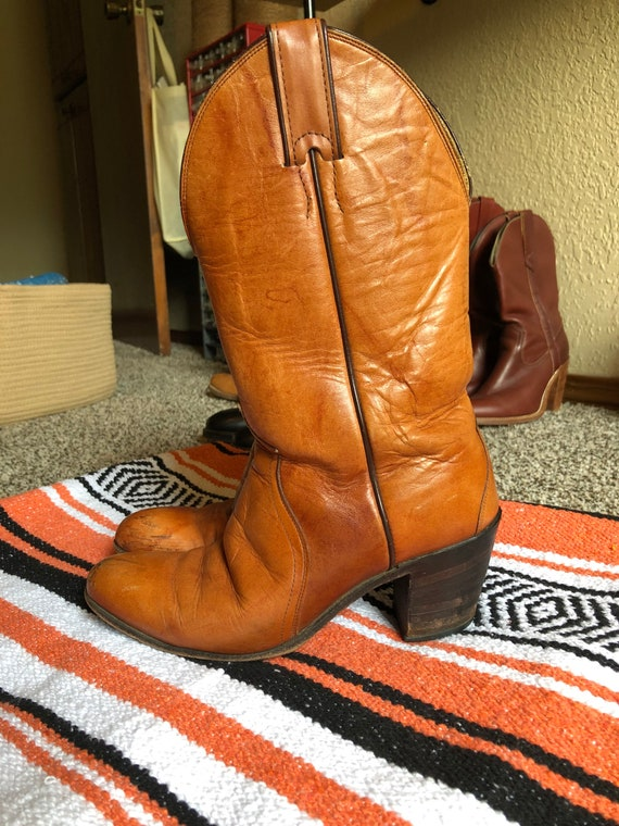1970s Justin Ropers Cowboy Boots