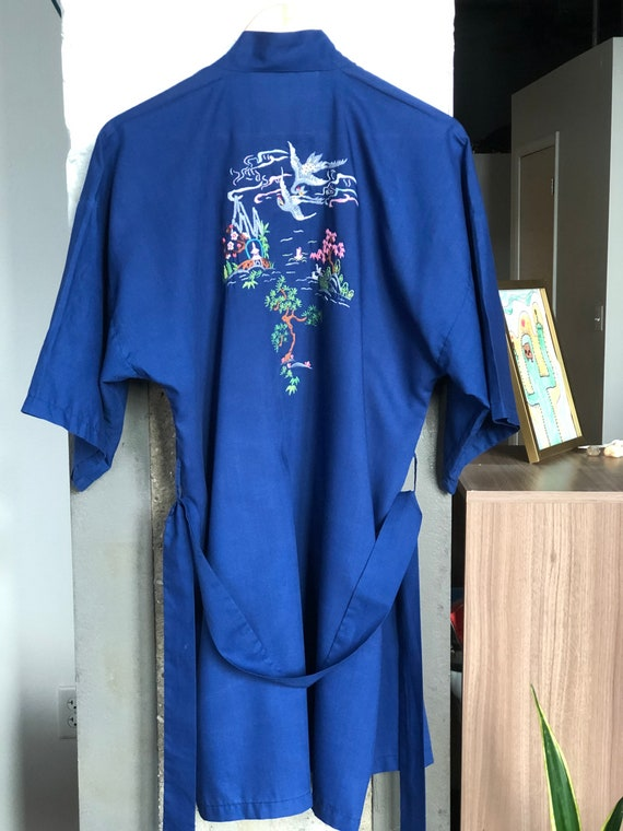 Vintage Chinese Health Robe, Vintage Boho Robe, Vi