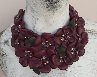 Modern necklace Contemporary necklace Bib necklace Handmade necklace Bohemian Sunny mango necklace Unusual necklace Artistic necklace