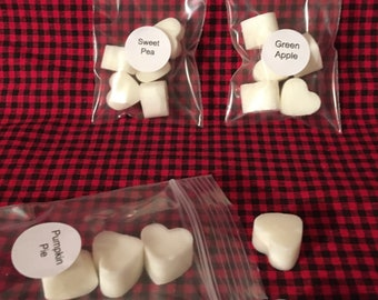 hearts 30 Soy wax Elf Magic mini melting tarts FREE shipping cats and more 6 shape choices seaside
