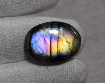 Labradorite Purple Flashy A Quality Gemstone Cabochon Stone Jewelry Making Stone
