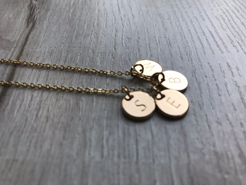 Monogram Necklace Family Gift Christmas Gift Charm Necklace Personalized Jewelry Personalized Necklace Four Initials Necklace